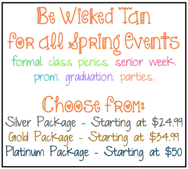 Wicked Tan Prom Specials
